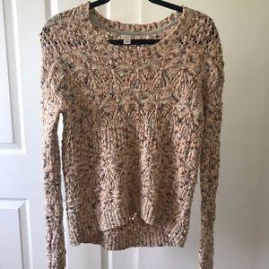 orange/brown marled sweater size s